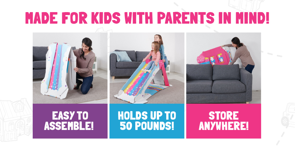 Pop up the fun and fold it back up when you're done!